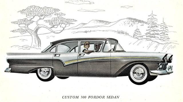 1957 Ford Custom 300 Fordor Sedan