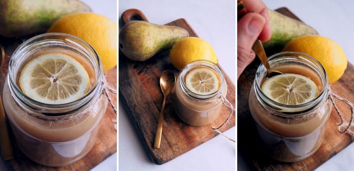 Compota de peras al horno