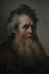 bearded old man by rembrandt (1632)