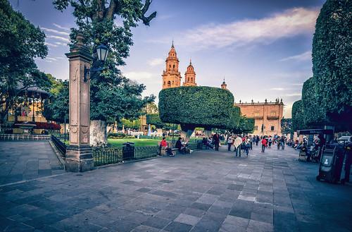 Alameda y Catedral,Morelia.