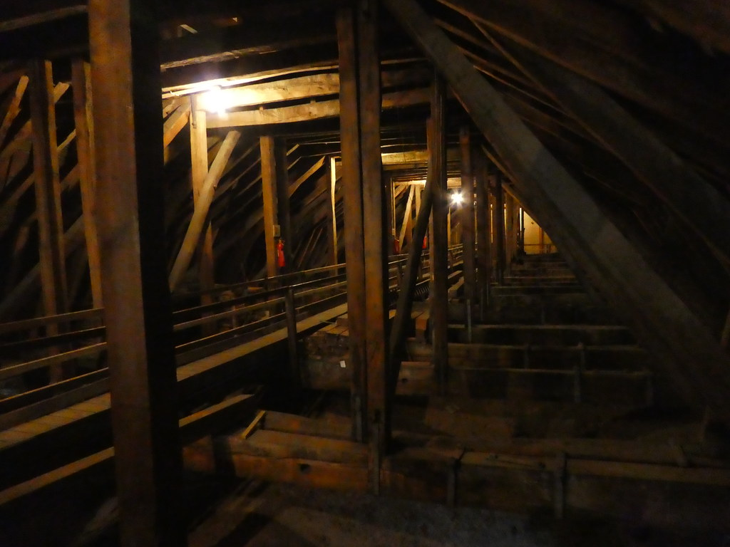 Roof space of Lincoln Cathedral