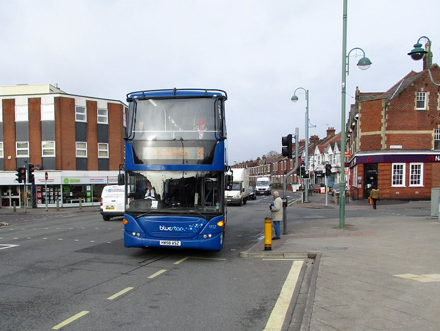 Loving our ex Southern Vectis Scanias - here's Blue Srar 1112 - HF58 ASZ arriving at Shirley Precinct on route 4