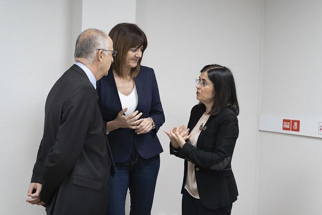 Reunión entre Idoia Mendia y la ministra Carolina Darias