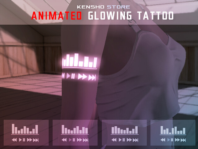 Animated Glowing Tattoo – Music EQ