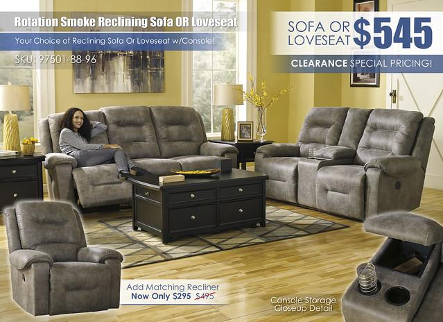Rotation Smoke Reclining Sofa OR Loveseat_97501-88-96-T771-T-B