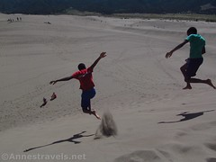 Jumping Down the Dunes