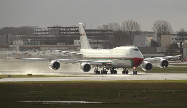 Royal Flight Oman, A4O-HMS, MSN 39749, Boeing 747-8H0 (BBJ), 19.02.2020,  HAM-EDDH, Hamburg