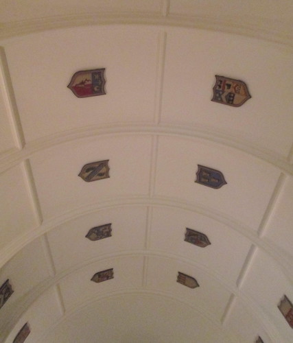 Drum Castle Library Ceiling (Formerly Servant's Hall)