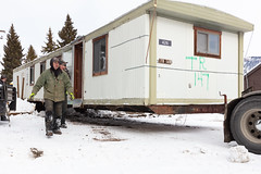 Removing outdated employee housing trailers from YACC camp in Mammoth Hot Springs (2)