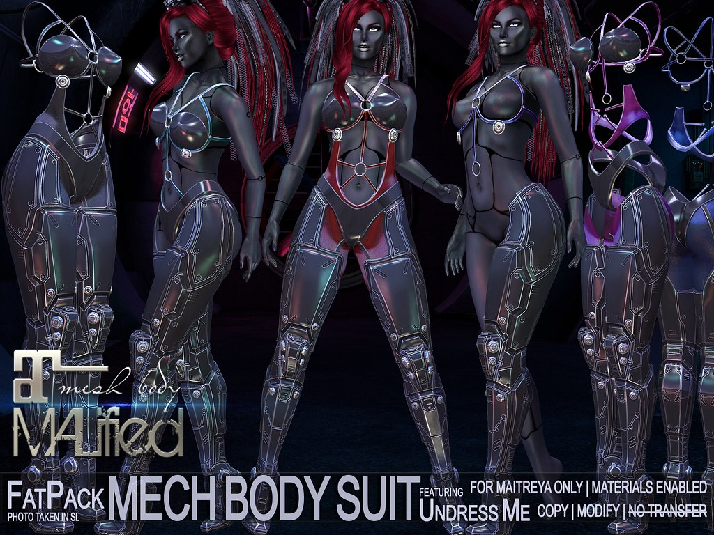 MALified: Undress-Me Mech Body Suits - FatPack