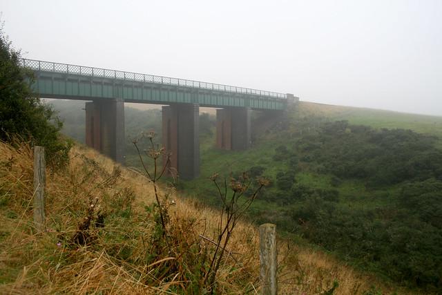 The railway line at Lunan Bay