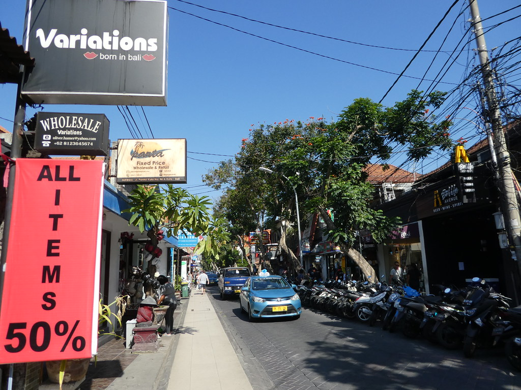 Typical street scene, Kuta, Bali