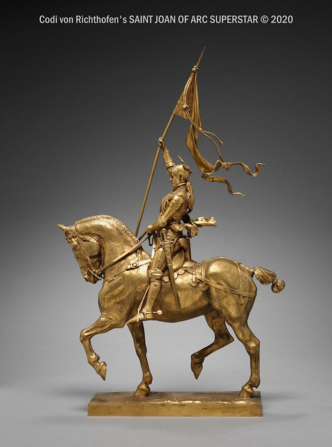 Statue de Jeanne d'Arc en bronze doré par Emmanuel Fremiet, 1874 - Legs de James Parmelee au Cleveland Museum of Art.
