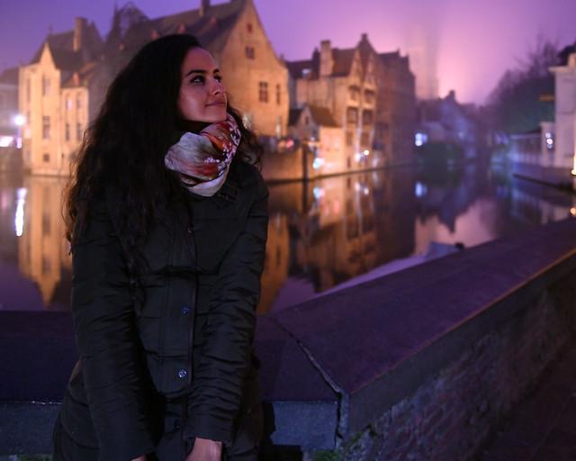 Rozenhoedkaai en Brujas, de noche
