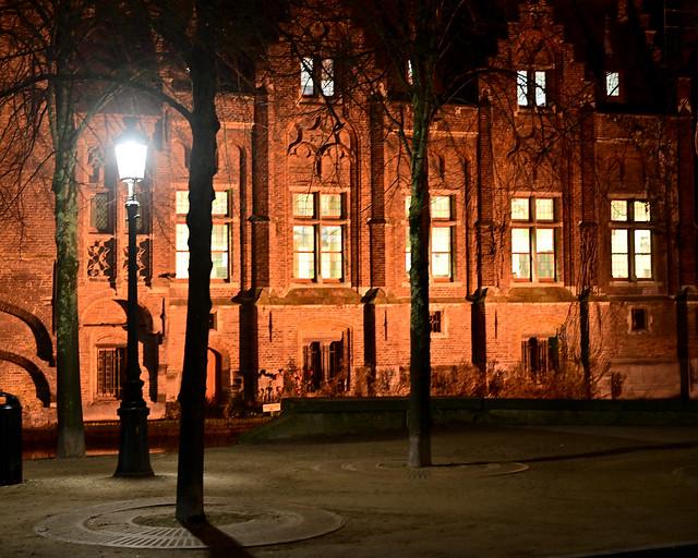 Calles de Brujas en la noche
