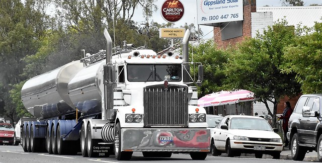 Kenworth with Milk Tankers in Mirboo North