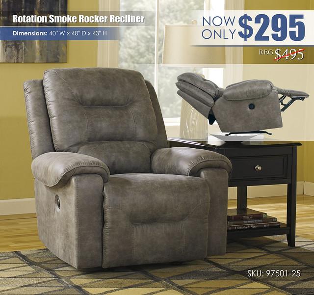 Rotation Smoke Rocker Recliner_97501-25