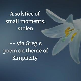 Greg Poem Lines