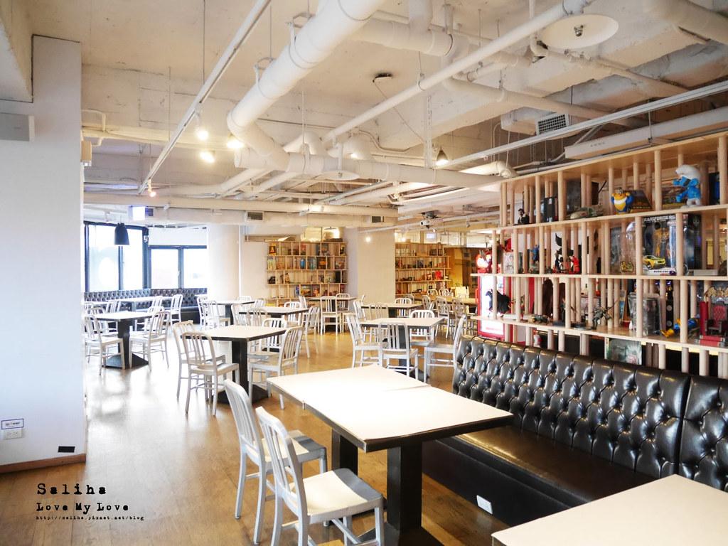 台北西門町不限時餐廳吃吧可看書久坐看漫畫閱讀氣氛好咖啡廳 (2)