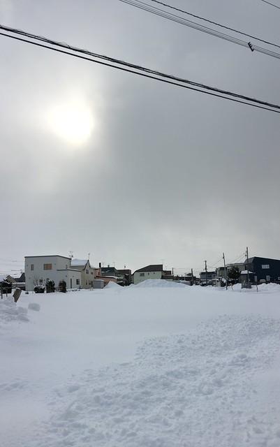 Panoramic Empty, Snowy Field