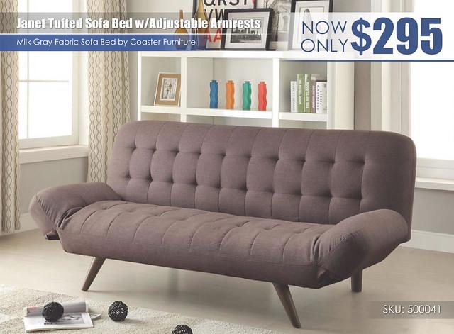Janet Sofa Bed wAdjustable Armrests_500041