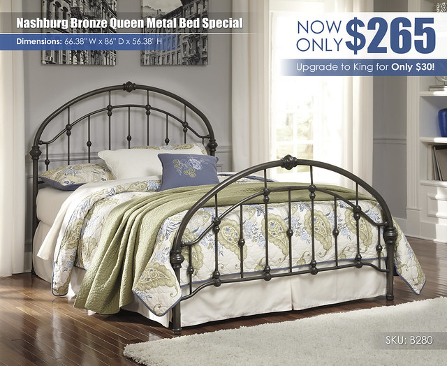 Nashburg Bronze Queen Metal Bed Special_B280-181