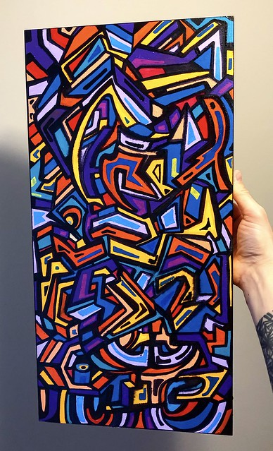 Zoo- acrylic painting