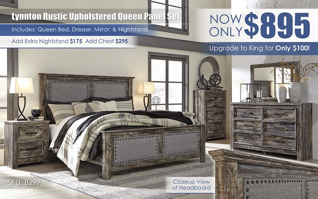 Lynnton Upholstered Queen Panel Bedroom_B297-31-36-46-58-56-97-92