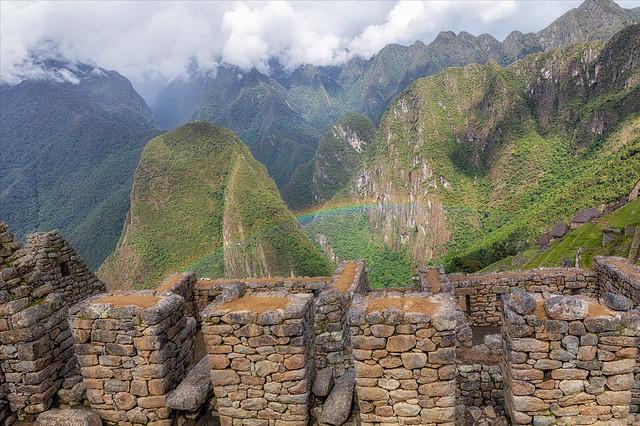 Rainbow at Machu Picchu