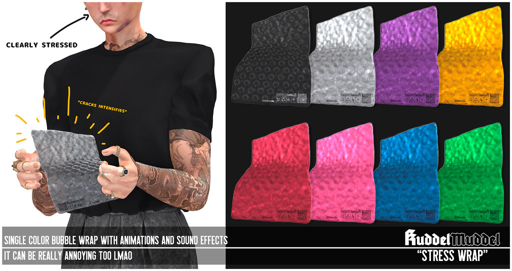 [KuddelMuddel] STRESS WRAP @Men Only Monthly (Feb 20-Mar 15)