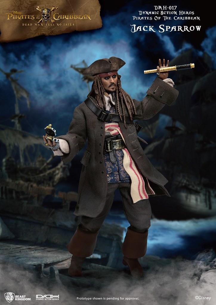 野獸國 究極英雄系列《加勒比海盜 神鬼奇航:死無對證》傑克·史派羅 Jack Sparrow DAH-017 1/9 比例可動人偶