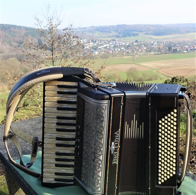 My Beltuna Accordion during a trip in the Vogelsberg Hills in Hesse, Germany