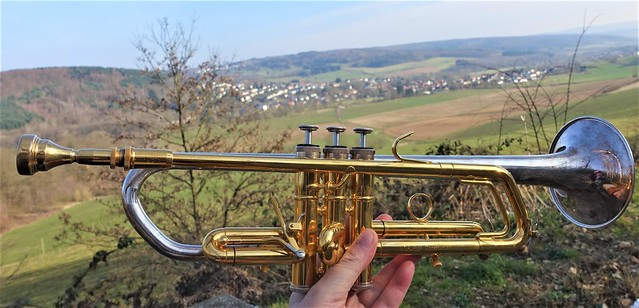 My Trumpet during a Trip in the Vogelsberg Hills in Germany - A Solo followed