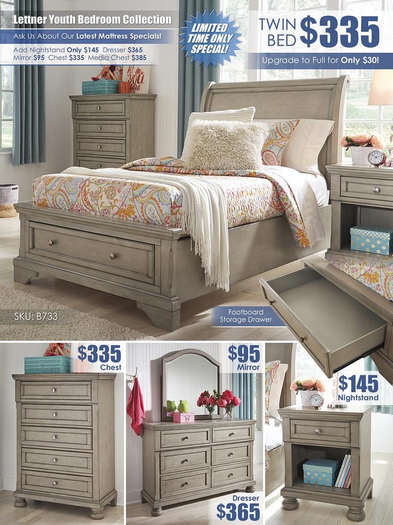 Lettner Youth Bedroom A La Carte_Layout_B733-53-MOOD-V