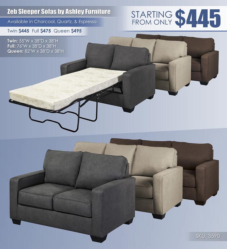 Zeb Sleeper Sofas by Ashley Furniture_3590