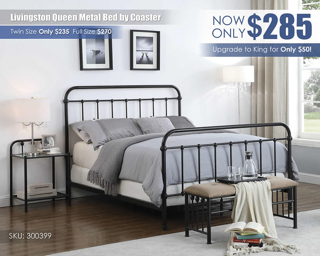 Livingston Queen Metal Bed by Coaster Furniture_300399