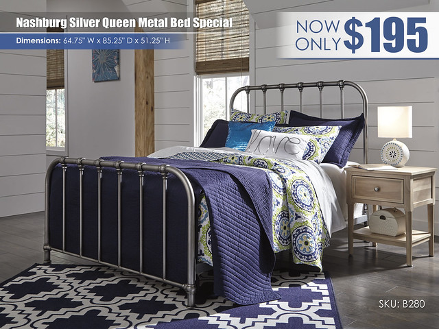 Nashburg Silver Queen Metal Bed Special_B280-572-Q229-B512-91