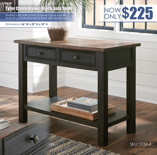 Tyler Creek Sofa Table_T736-4