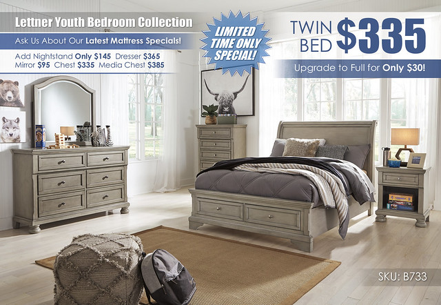 Lettner Youth Bedroom Collection A La Carte_B733-21-26-45-87-84S-183-91