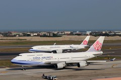 China Airlines B747-409 B-18215 The last 744 passenger ever produced , A350-941 B-18908 @TPE