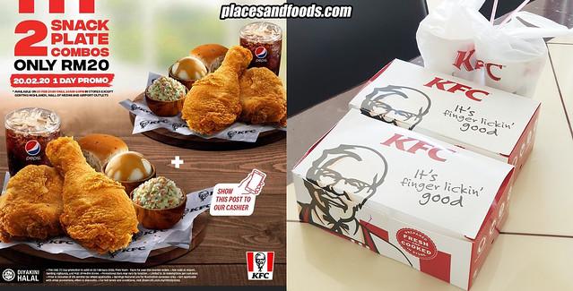 kfc 2 snack plate