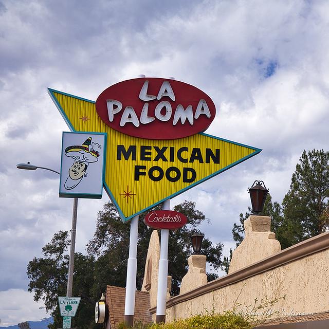 La Paloma Mexican Food Restaurant on Route 66 in La Verne, California