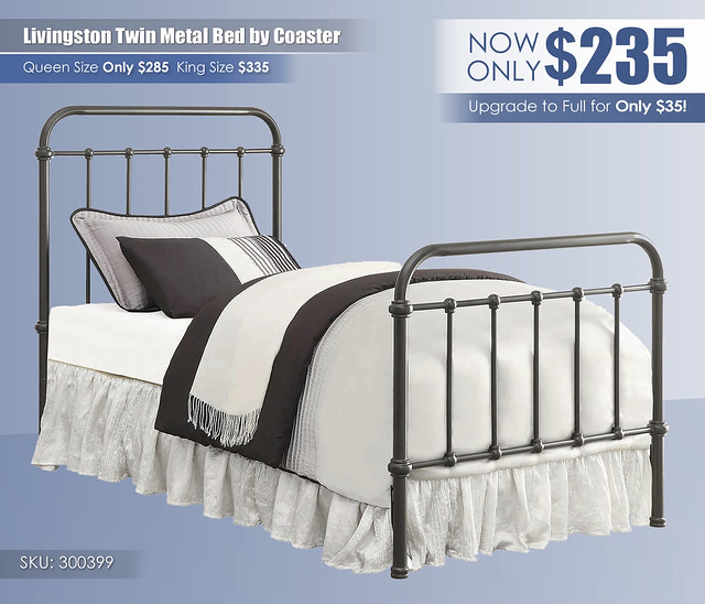 Livingston Twin Metal Bed by Coaster Furniture_300399