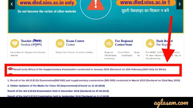 NIOS DElEd Supplementary Result