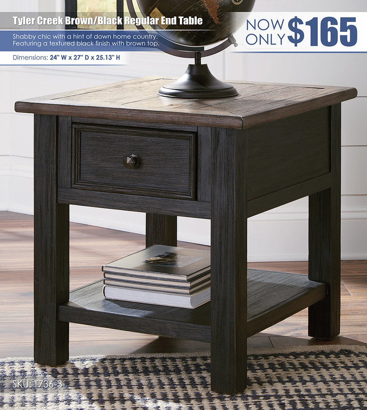 Tyler Creek Regular End Table_T736-3