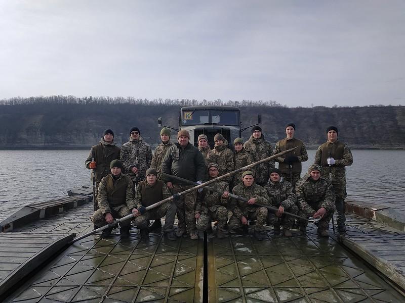 Заняття з військових мостів та переправ на р.Дністер