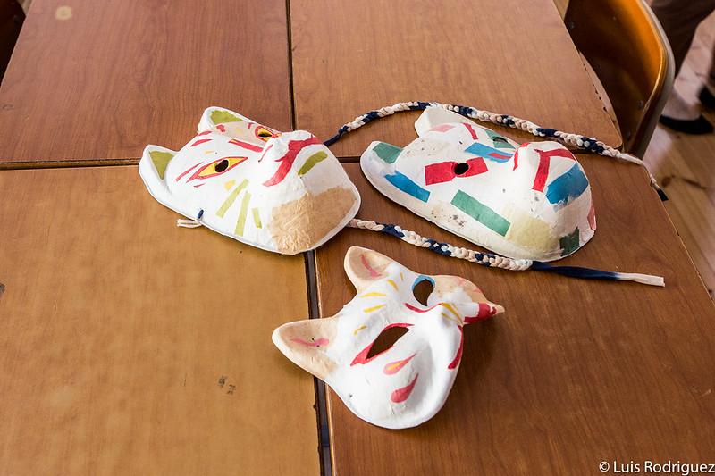 Máscaras de papel washi