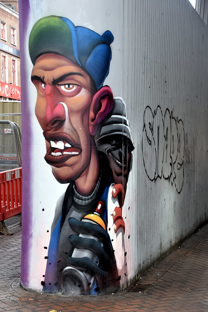 Mural/Spray Paint, Queensway, Chinatown, Birmingham.
