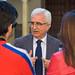 Atención a medios de comunicación de Manuel Jiménez Barrios en el Parlamento de Andalucía.