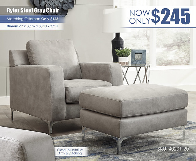 Ryler Steel Gray Chair_40201-20-14